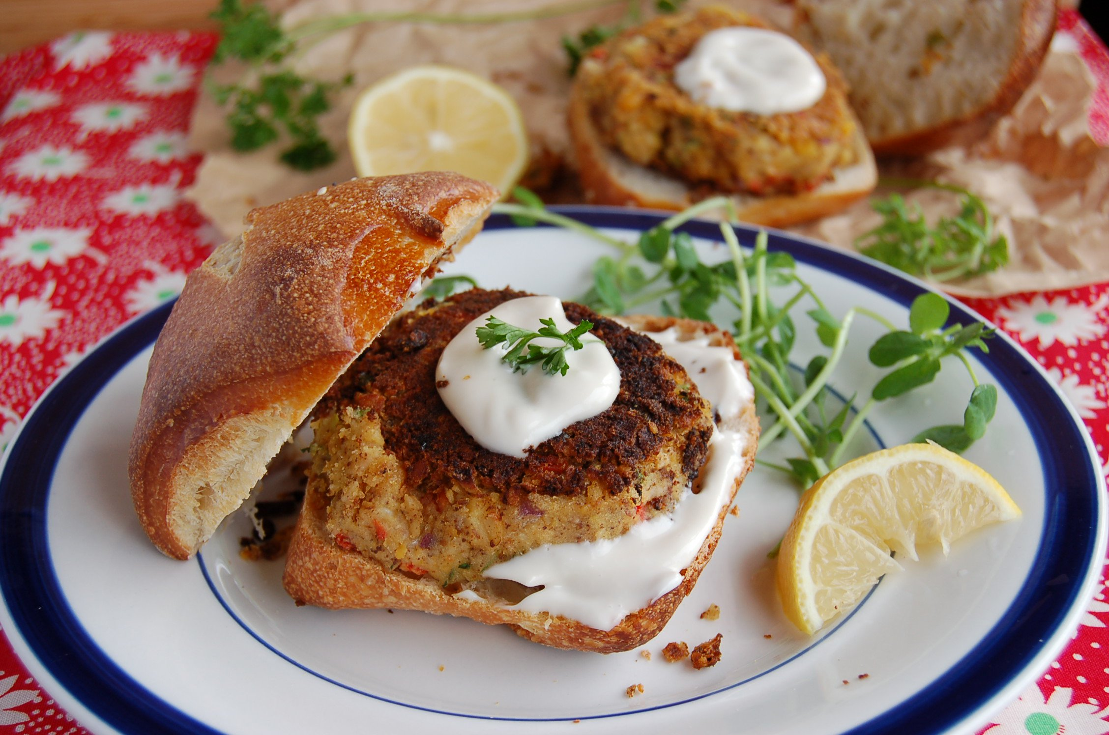 'Crab' Cakes with Sweet Balsamic Mayo  [Vegan, Gluten-Free]